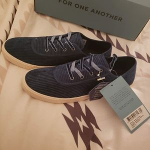 NIB TOMS sz 8 Atlantic Corduroy Carmel sneaker